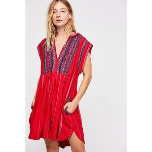 Free People Drift Away Embroidered Tunic Dress